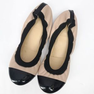 J. Crew• Milo Cap Toe Ballet Flats Scrunch Slip On